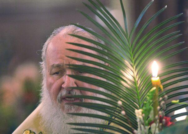 Патриарх Московский и всея Руси Кирилл совершил освящение вербы
