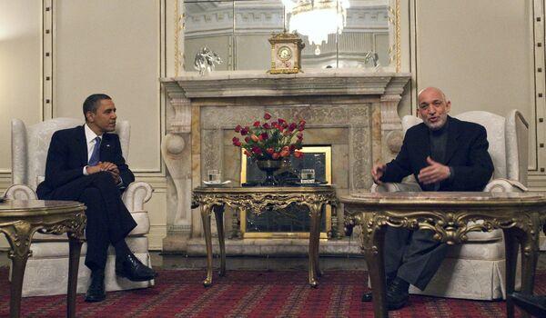 Встреча президента Афганистана Хамида Карзая и президента США Барака Обамы