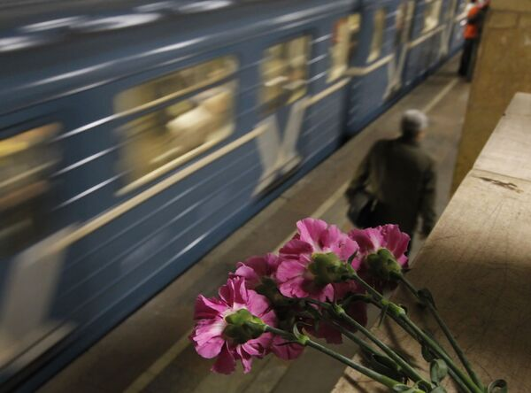 Метропоезда на станции Парк культуры-радиальная, где произошел взрыв.