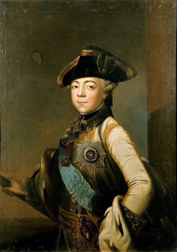 Портрет цесаревича Павла Петровича. Работа неизвестного художника