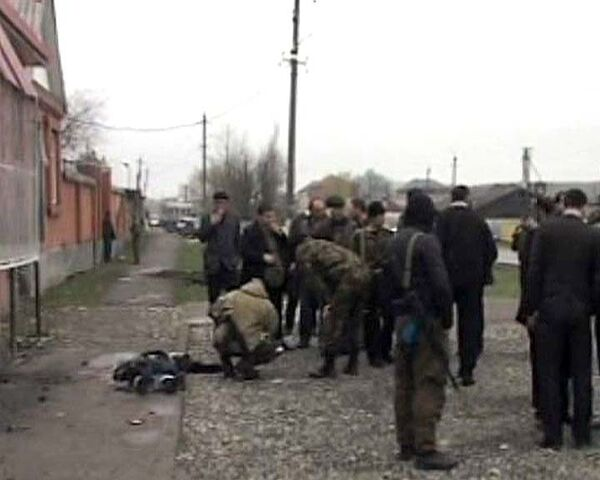 Террористка-смертница подорвалась на гранате. Видео с места событий