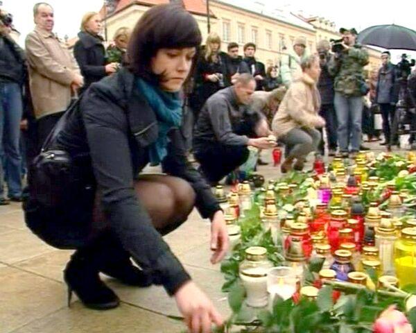 Польша скорбит по погибшим в авиакатастрофе под Смоленском