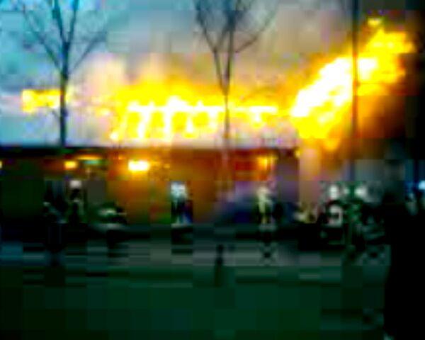 Пожар в конюшне Уголка дедушки Дурова. Видео с места ЧП