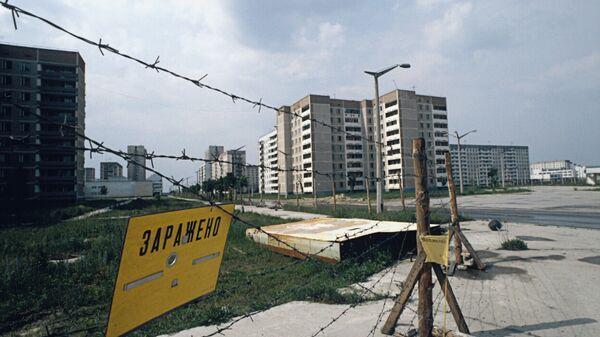 В городе Припять после аварии на Чернобыльской АЭС. Архив