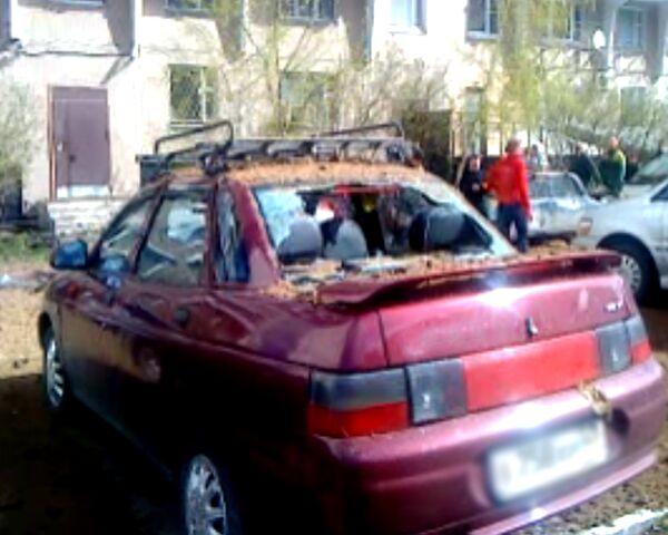 Взрыв газа на севере Москвы. Видео очевидца
