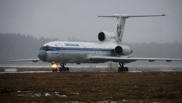 Ту-154 авиакомпании Оренбургские авиалинии. Архивное фото