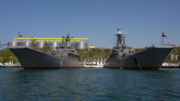 Черноморский флот в Севастополе. Архив