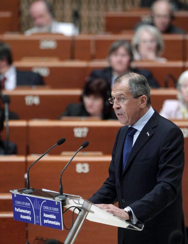 Глава МИД РФ Сергей Лавров выступил на пленарном заседании ПАСЕ