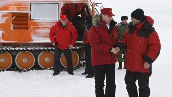 Владимир Путин посетил на Земле Франца-Иосифа. Архивное фото