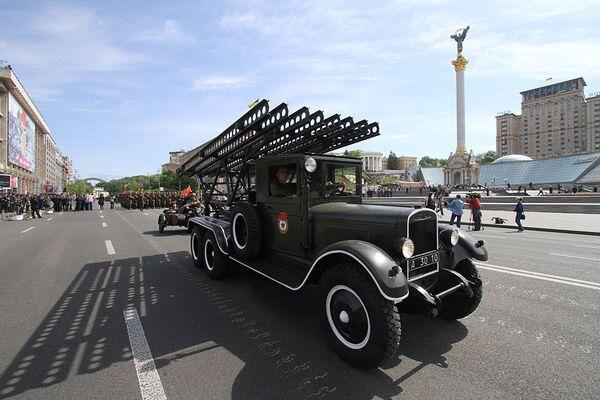 Генеральная репетиция соместного парада войск в Киеве