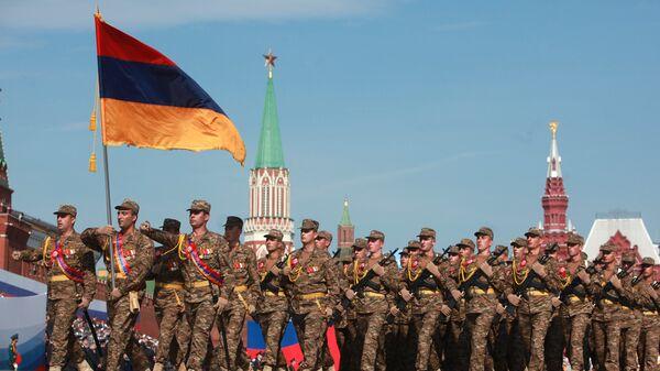 Армянские военные на параде Победы