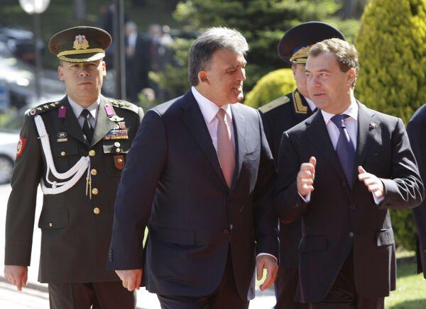 Президент Д.Медведев на церемонии официальной встречи в Анкаре