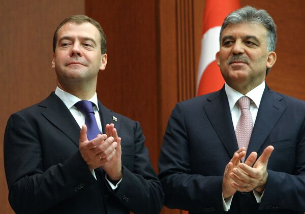 Д.Медведев на церемонии подписания совместных документов по итогам российско-турецких переговоров в Анкаре