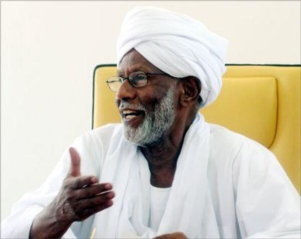 Лидер исламской оппозиции Судана, глава партии Народный конгресс Хасан ат-Тураби