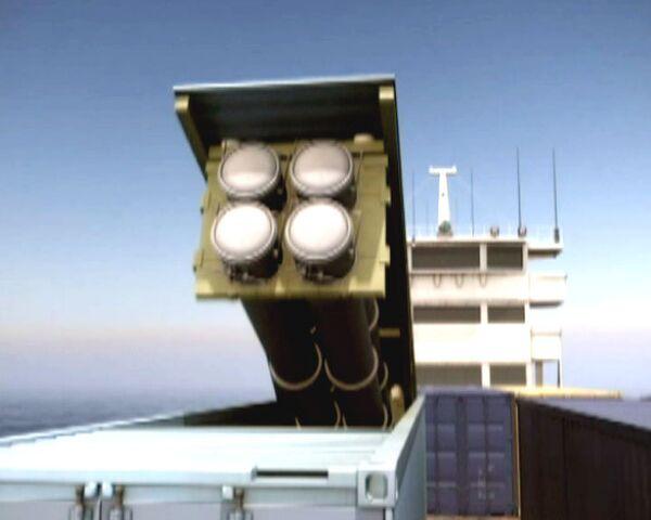 Российский ракетный комплекс Сlub-K спрятали в грузовой контейнер
