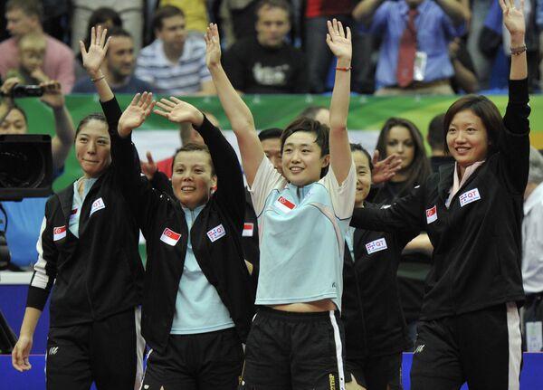 Женская сборная Сингапура – чемпион мира по настольному теннису