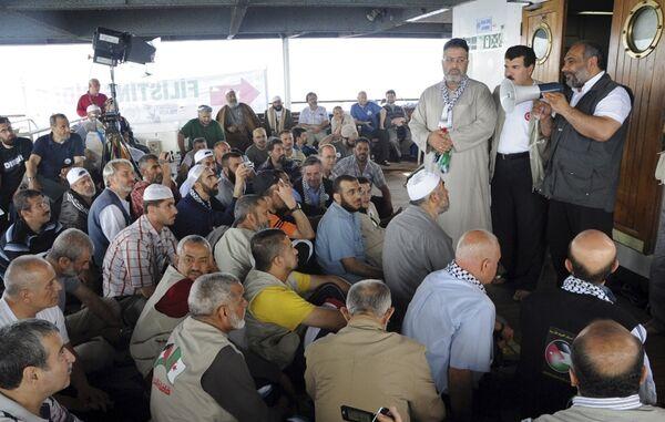 На корабле турецкой флотилии, следовавшей в блокированный сектор Газа с гуманитарной помощью