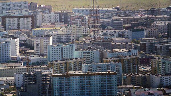 Вид на Якутск сверху. Архив