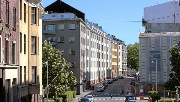 Финляндия. Хельсинки. На улицах города. Архив