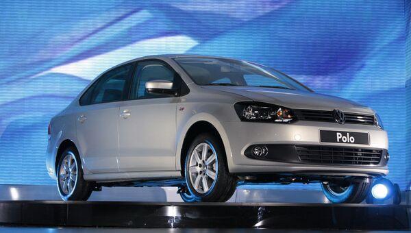 Презентация нового седана марки Volkswagen. Архив
