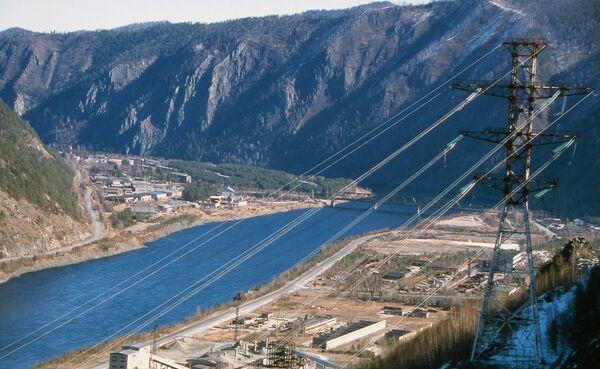 Енисей у Саяно-Шушенской ГЭС