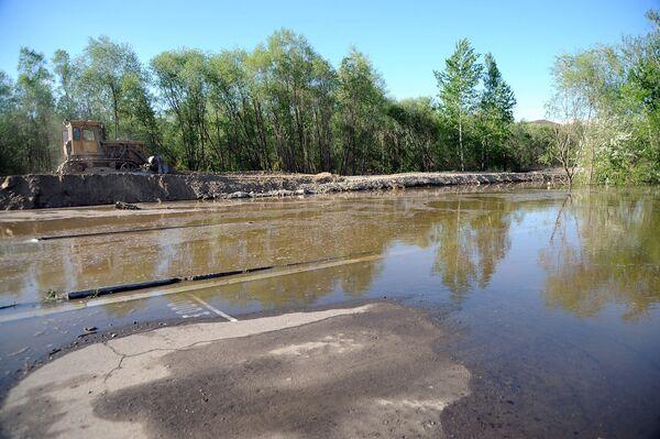 Паводковая ситуация в районе Кызыла из-за разлива Енисея. Архив