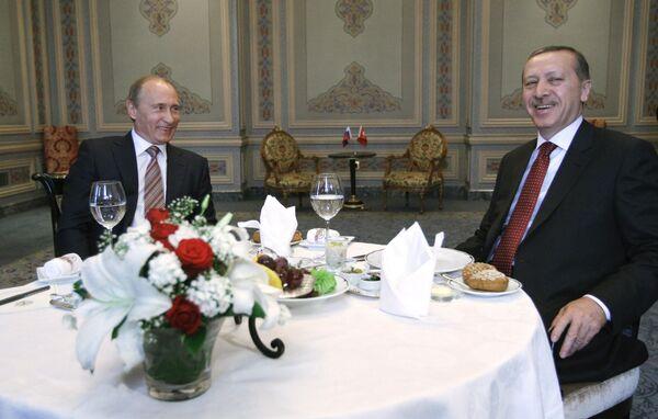 Встреча Владимира Путина с Реджепом Тайипом Эрдоганом