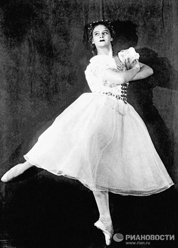 Балерина М.Семенова в балете Тарас Бульба