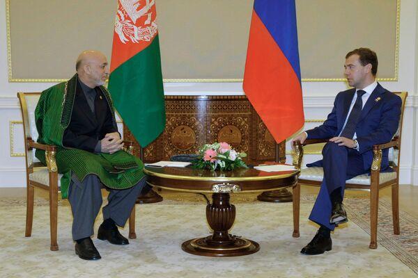 Встреча Дмитрия Медведева с Хамидом Карзаем. Архив