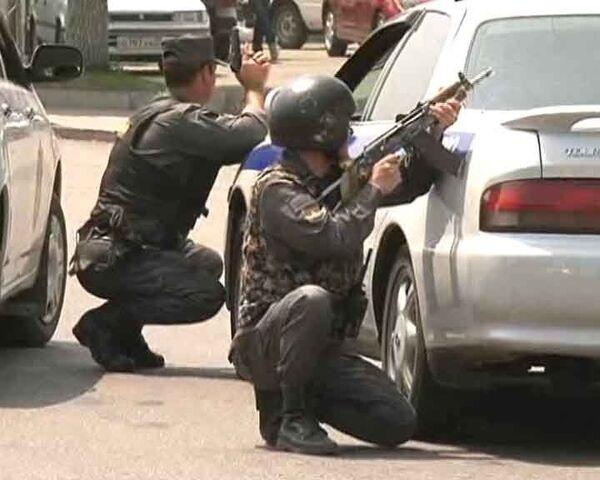 Захват приморской банды, нападавшей на милиционеров. Видео с места событий