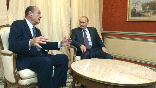 Беседа Владимира Путина с Жаком Шираком