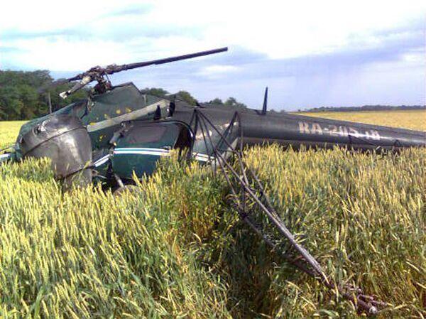 Вертолет Ми-2 разбился в Ставропольском крае