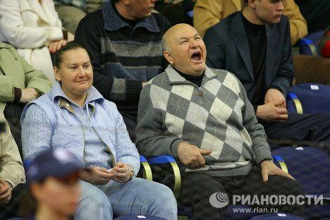 Мэр Москвы Юрий Лужков с супругой Еленой Батуриной