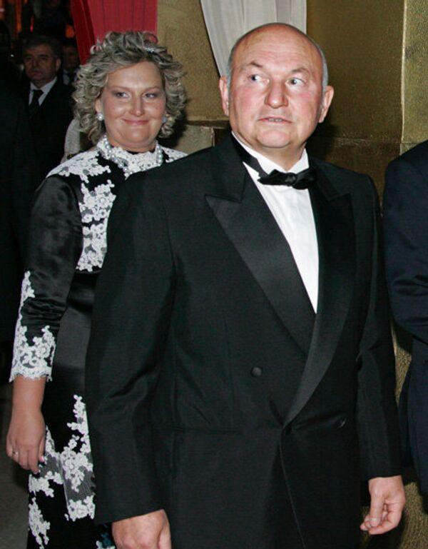 Мэр Москвы Юрий Лужков с супругой Еленой Батуриной. Архив