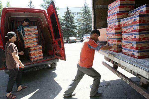 Доставка гуманитарной помощи в Киргизию