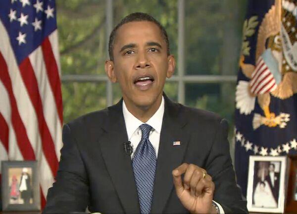 Президент США Барак Обама выступил с телеобращением к нации