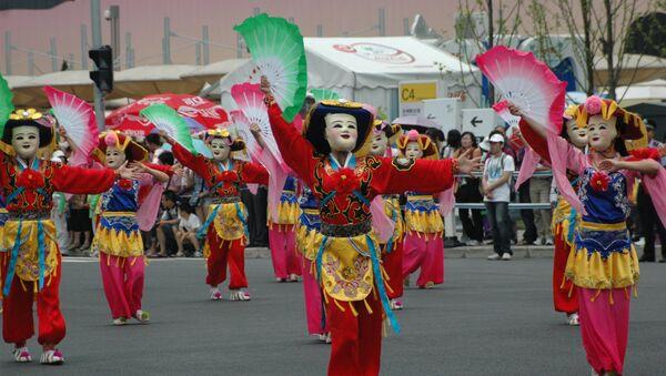 Традиционный китайский праздник «дуаньу» - праздник «парных пятерок» отмечают в Шанхае. Архивное фото