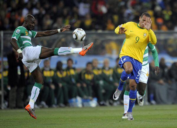 Футбол. ЧМ-2010. Матч Бразилия - Кот-д'Ивуар