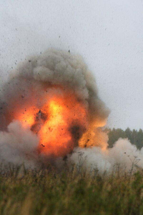 Взрыв на полигоне. Архив