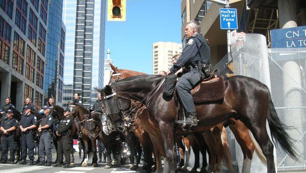 Канадская конная полиция. Архивное фото