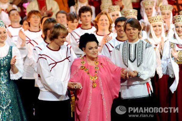 Съемки фильма-концерта к 80-летию Людмилы Зыкиной в Первой студии Останкино