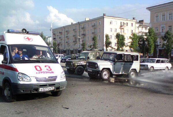 Взрыв у концертного зала в Грозном