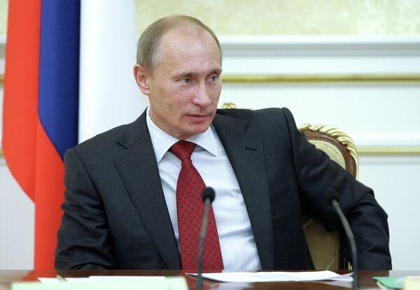 Премьер-министр РФ Владимир Путин провел заседание президиума правительства РФ. Архив