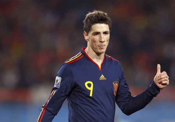 Форвард сборной Испании по футболу Фернандо Торрес