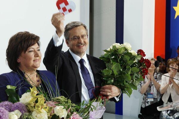 Победа Бронислава Коморовского на президентских выборах в Польше была достигнута с минимальным перевесом