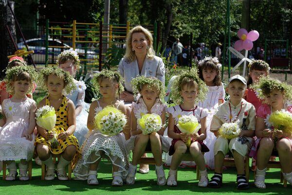 Супруга президента РФ С.Медведева на открытии нового детского сада в Муроме