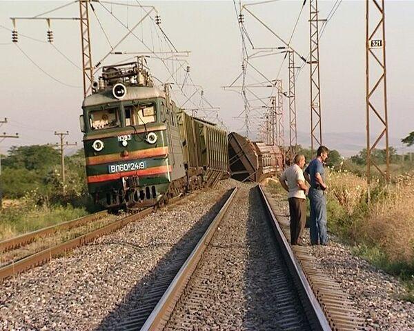 Взрыв на железной дороге в Дагестане на пути следования грузового состава