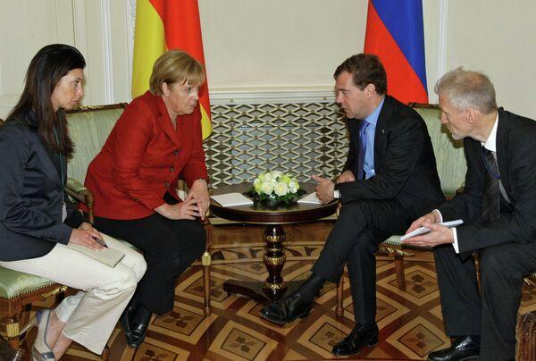 Д.Медведев и А.Меркель в Екатеринбурге