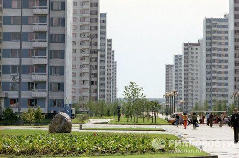 Вид в Олимпийской деревне
