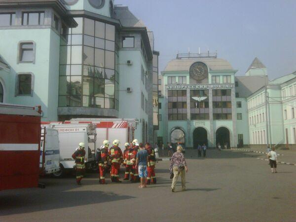 Пожар в здании на площади Тверской заставы